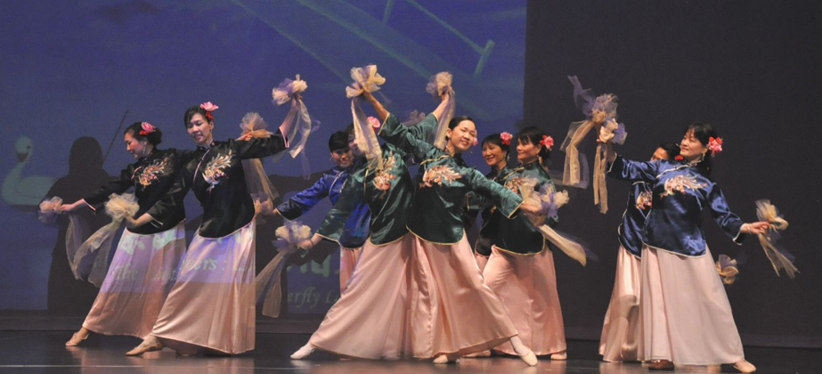 Photo of the Silk Flower Bouquet Dance.