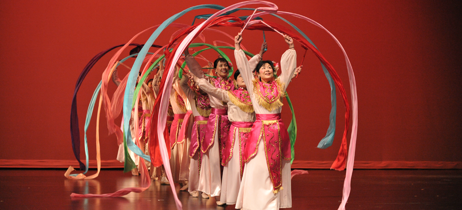 Photo of the Silk Ribbon Dance.
