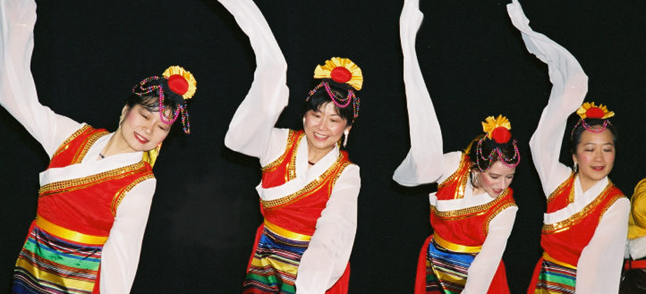 Photo of the Tibetan Sleeve Dance.
